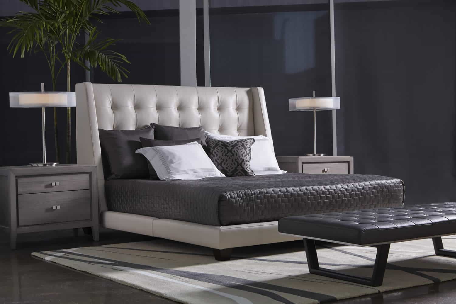 shaw bed by american leather bedroom more san carlos